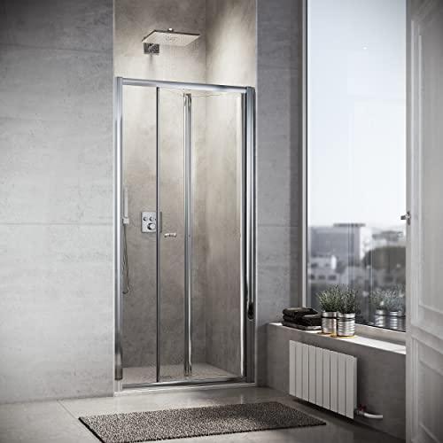 Duschkabine 90cm in Nische Nischentür Falttür Duschtür Duschwand glas faltbar - 6