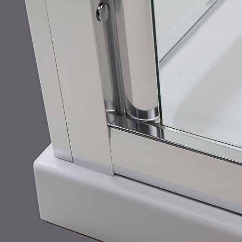 Hochwertige Duschtür Falttür aus Klarglas mit Aluminiumrahmen - 3