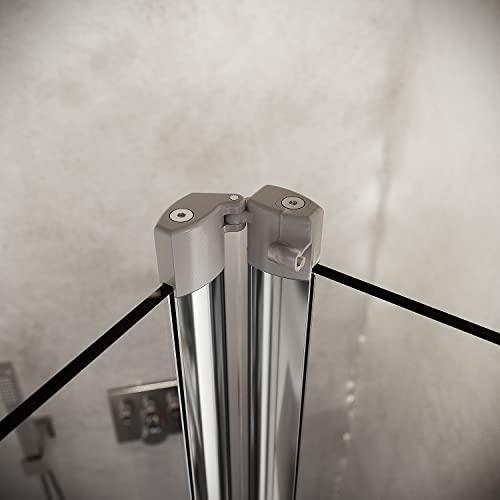 Hochwertige Duschtür Falttür aus Klarglas mit Aluminiumrahmen - 6