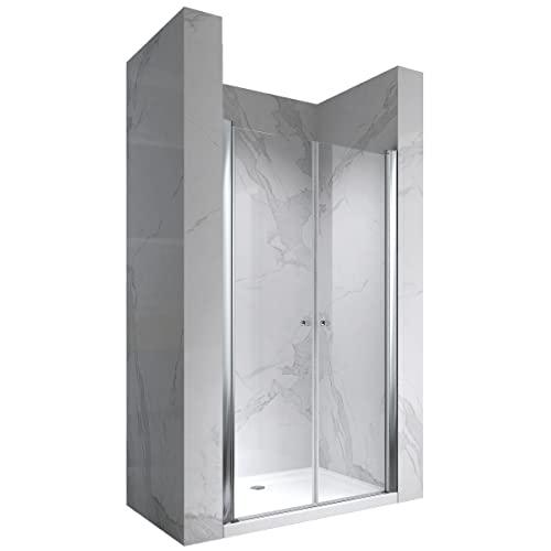 Hochwertige Duschtür mit Doppelschwenktüren und Nanobeschichtung