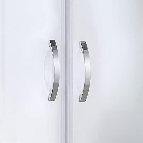 """Designer Duschabtrennung Pendeltür """"Mattglas"""" mit Lotoseffekt - 2"""