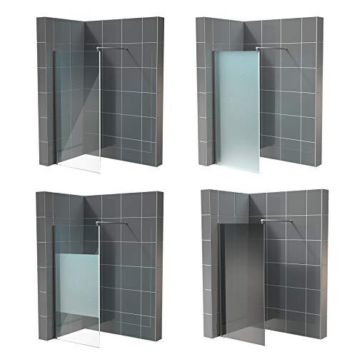 Duschwand für Walk in Dusche in verschiedenen Designs mit Nanobeschichtung