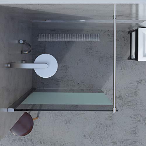 Duschwand für Walk in Dusche in verschiedenen Designs mit Nanobeschichtung - 4