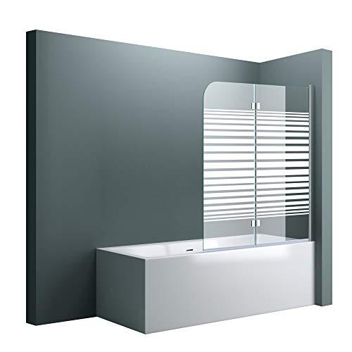 """Badewannenaufsatz """"Cortona1408S"""" mit satinierten Streifen und Nanobeschichtung"""