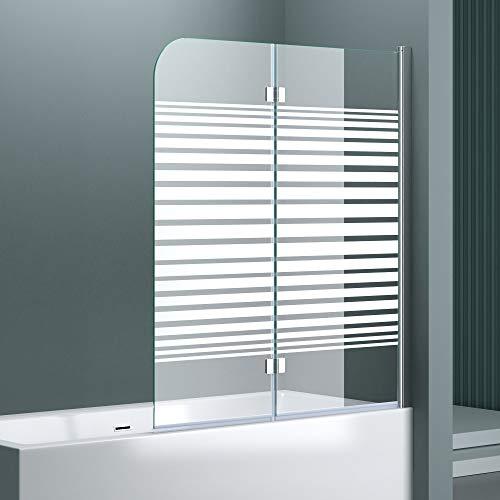 BxH:117×141 cm Duschabtrennung / Duschwand für Badewane aus Glas Cortona1408S-rechts, Wandanschlag rechts, inkl. Nanobeschichtung, Badewannenfaltwand - 2