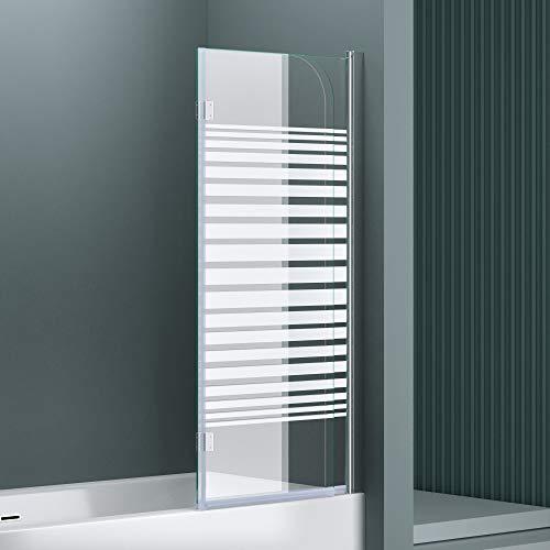 """Badewannenaufsatz """"Cortona1408S"""" mit satinierten Streifen und Nanobeschichtung - 3"""