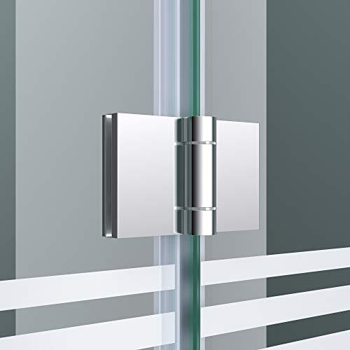 """Badewannenaufsatz """"Cortona1408S"""" mit satinierten Streifen und Nanobeschichtung - 4"""
