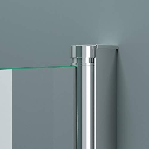 BxH:117×141 cm Duschabtrennung / Duschwand für Badewane aus Glas Cortona1408S-rechts, Wandanschlag rechts, inkl. Nanobeschichtung, Badewannenfaltwand - 5