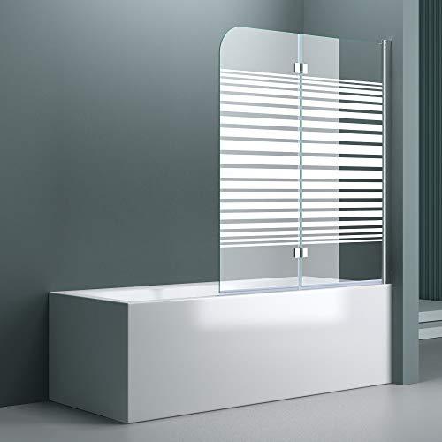 """Badewannenaufsatz """"Cortona1408S"""" mit satinierten Streifen und Nanobeschichtung - 6"""