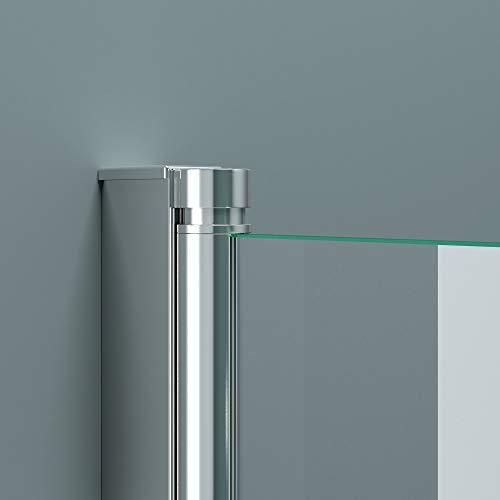 BxH: 94×143 cm Design Duschabtrennung Cortona1122, 6mm ESG-Sicherheitsglas teilsatiniert, inkl. Nanobeschichtung, Badewannenfaltwand, - 5
