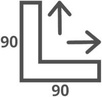 Duschabtrennung 90x90 Abmessungen